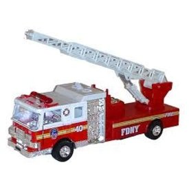 Diecast Pullbacks DARON: FDNY Pullback Ladder Truck