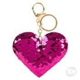 THE TOY NETWORK THE TOY NETWORK:  FLIP SEQUIN HEART KEYCHAIN
