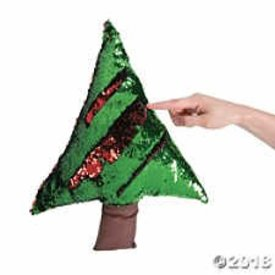 FUN EXPRESS CHRISTMAS TREE FLIPPING SEQUIN PILLOW