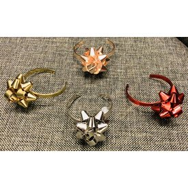 TWO'S COMPANY TWO'S COMPANY: Gift Bow Bracelet: Red, Gold, Rose Gold, Silver