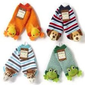 TWO'S COMPANY CUPCAKES AND CARTWHEELS:  Animal Baby Socks Asst 4 Designs