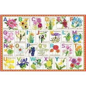 EEBOO:  Flower Alphabet 100 Pc Puzzle