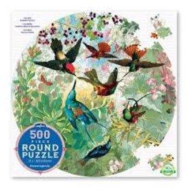 EEBOO:  Hummingbirds 500Pc Round Puzzle
