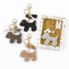 2 CHIC: DIAMOND DOG KEYCHAIN