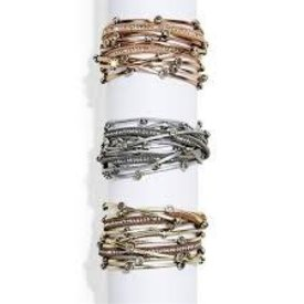 2 CHIC: CRYSTAL STUD WRAP MAGNETIC BRACELET