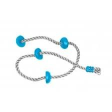 B4 ADVENTURE: AMERICAN NINJA WARRIOR ANW Climbing Rope 8' w/ Foot Holds and dual delta clips