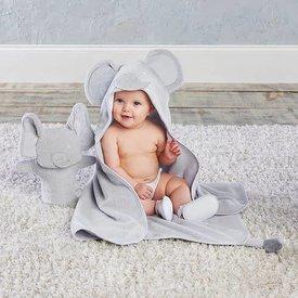 BABY ASPEN BABY ASPEN: Little Peanut Elephant 3-Piece Bath Set