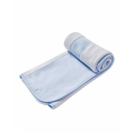 "ANGEL DEAR ANGEL DEAR:  2 PLY TAKE ME HOME BLANKET (29 X 29"") - LT  BLUE"