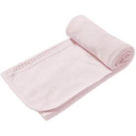 "ANGEL DEAR ANGEL DEAR:  2 PLY TAKE ME HOME BLANKET (29 X 29"") - PINK"