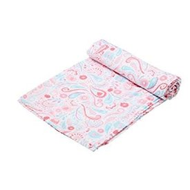 ANGEL DEAR ANGEL DEAR:  BAMBOO SWADDLE BLANKET - ELEPHANT PAISLEY
