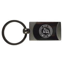 LXG. INC Gunmetal KSU Seal Keychain