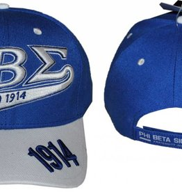 Big Boy Headgear Greek Phi Sigma Beta Baseball Hat
