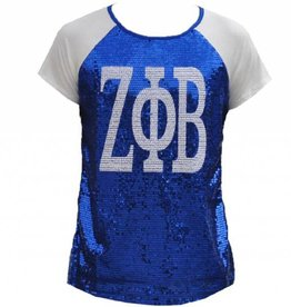 Zeta Phi Beta Sequins Blue T-Shirt