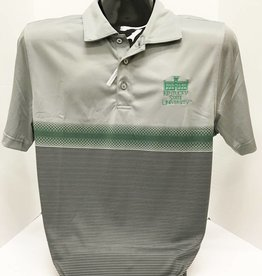 Cutter & Buck Gray W/Green Stripe Polo