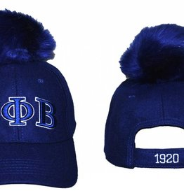 Big Boy Headgear Greek Pom Pom Cap
