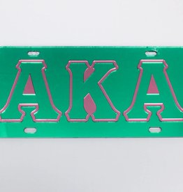 CRAFTIQUE Greek Colored License Plate
