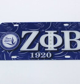 CRAFTIQUE Greek Crest License Plate