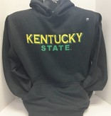 MV SPORTS Black KSU Hoodie w/ Green Shadow