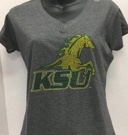 MV SPORTS KSU Rhinestone Spirit Horse T-Shirt