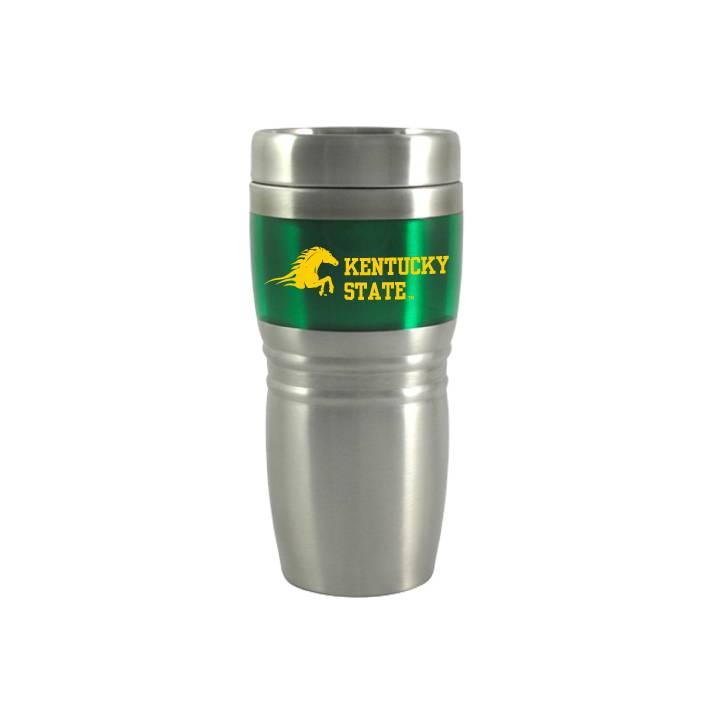Metal Green Insert Coffee Tumbler