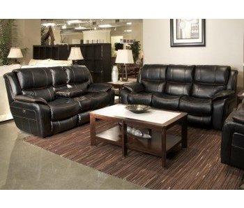 Jackson Beckett Reclining Living Room Set(Black)