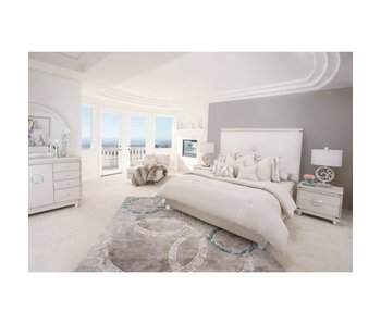 Aico Glimmering Heights Bedroom Set (Ivory)