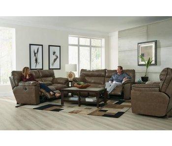 Jackson Milan Power Leather Living Room Set (Smoke)