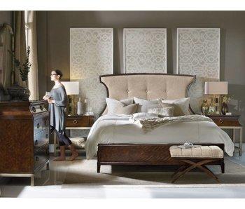 Hooker Skyline King Bedroom Set (Dark Wood)