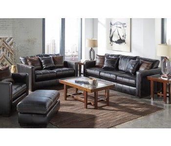 Jackson Tucker Fabric Living Room Set (Black)