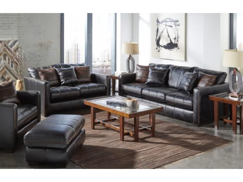 Tucker Fabric Living Room Set (Black) - Grand Furniture
