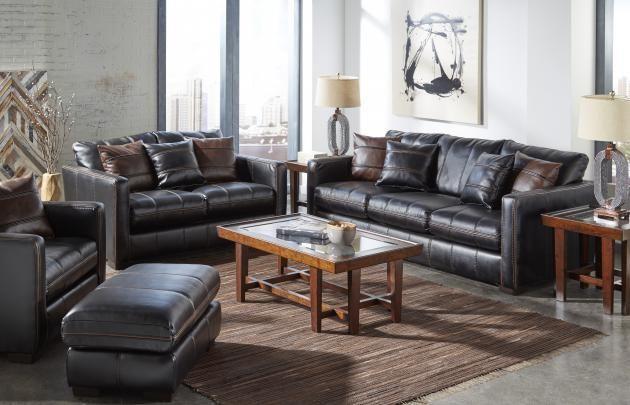 Tucker Fabric Living Room Set (Black) - Grand Furniture