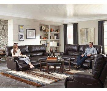 Jackson Wembley Power Leather Living Room Set (Chocolate)