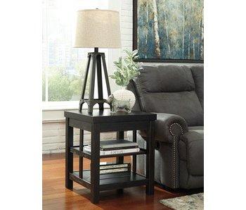 Ashley Furniture Galvelston Square End Table (Black)