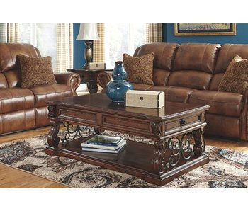 Ashley Furniture Alymere Cocktail & End Table Set (Rustic Brown)