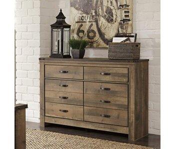 Ashley Furniture Trinell Full Panel Bedroom Set (Brown)