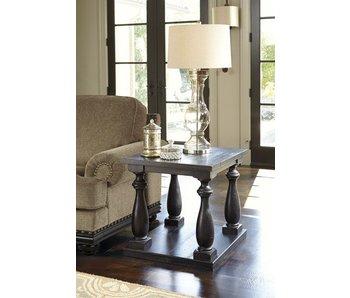 Ashley Furniture Mallacar Rectangular End Table (Black)