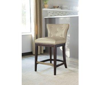 Ashley Furniture Canidelli Upholstered Barstool (Beige)
