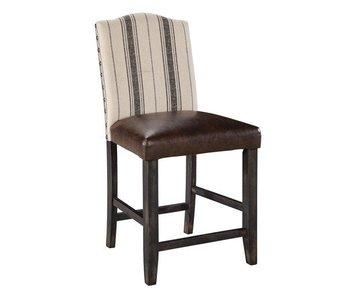 """Ashley Furniture Moriann Upholstered 40"""" Barstool (Two Tone)"""