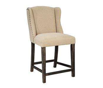 """Ashley Furniture Moriann Upholstered 40"""" Barstool (Light Beige)"""