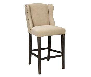 """Ashley Furniture Moriann Tall Upholstered 45"""" Barstool (Light Beige)"""