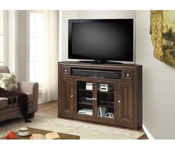 """Parker House Furniture Tempo 62"""" Corner TV Console (Dark Mocha)"""