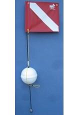 1 piece 4' Float with Nylon Flag Styrofoam