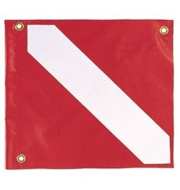 Spare vinyl dive flag w/ stiffener. Keep those pesky boaters away from you and your crew with this vinyl dive flag. This is a perfect replacement for your scuba diving float or you snorkeling float.