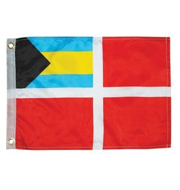 "Bahamas Courtesy Nylon Flag 12"" x 18"""