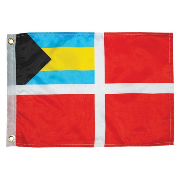 "Bahamas Courtesy Nylon Flag 12"" x 18"""