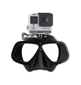 OCTOMASK's newest mask offers a super low colume masks with a built in GoPro Camera mount offers divers a great way to shoot incredible video while diving in addition to keeping your hands free. Works with ALL GoPro® Models!, , This mask fits nearly every