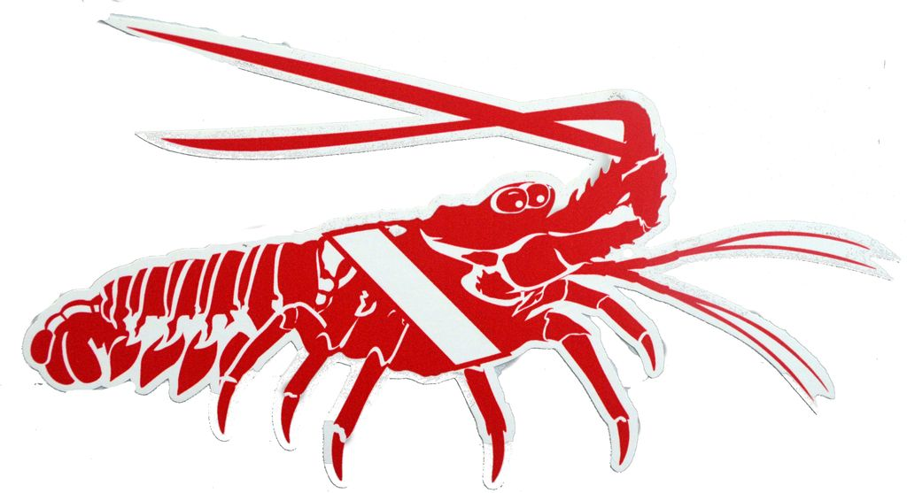 Lobster Dive Flag Removable Sticker