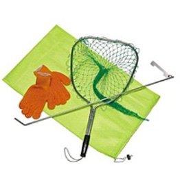 Deluxe Lobster Kit: Orange Gloves, Gauge, Ticklestick & Bag