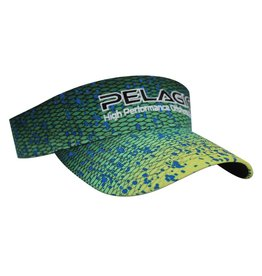 Choose your mood:  mean green or cool blue.  The all-new DORADO visor is the perfect complement to your DORADO Boardshorts.  Featuring a custom dorado print design and PELAGIC text logo, this visor is ideal for keeping the sun off you face and glassing th