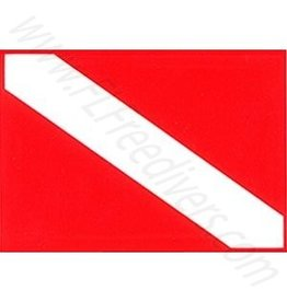 Rep your diver pride with the classic Diver Down Flag Sticker.